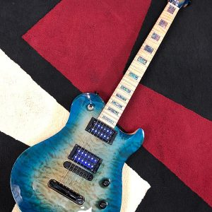 SC carved-top maple blue-burst