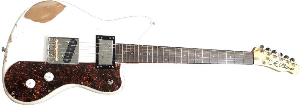 Tejas-OS White Relic Guitar